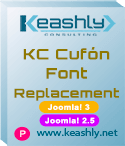 KC Cufón Font Replacement plugin Joomla! 3-2.5