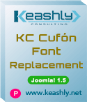 KC Cufón Font Replacement plugin Joomla! 1.5